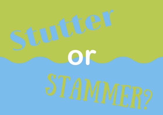 stutter or stammer